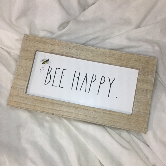 New Rae Dunn Bee Happy Wooden Sign